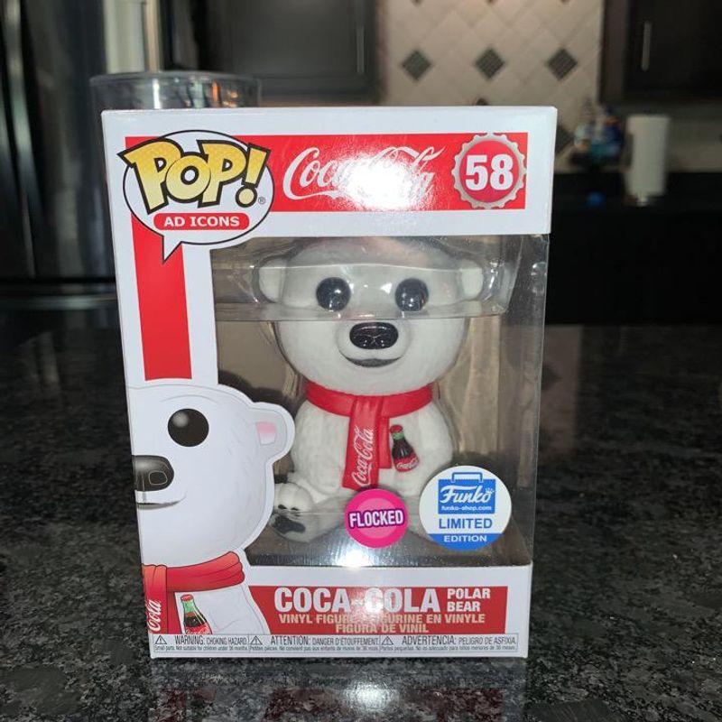 Coca- Cola Polar Bear (Flocked)