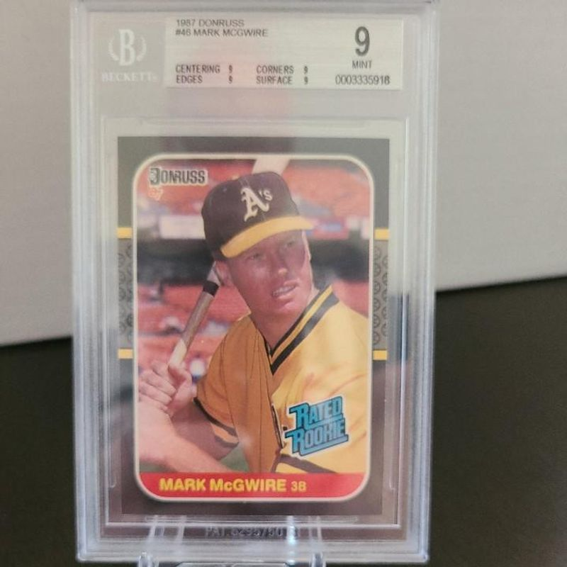 Mark McGwire - 1987 Donruss (Rated Rookie)
