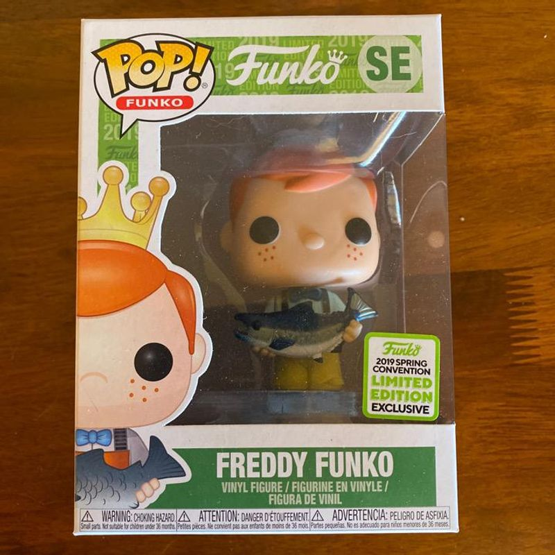 Freddy Funko (Holding Fish - Yellow Pants) [Spring Convention]