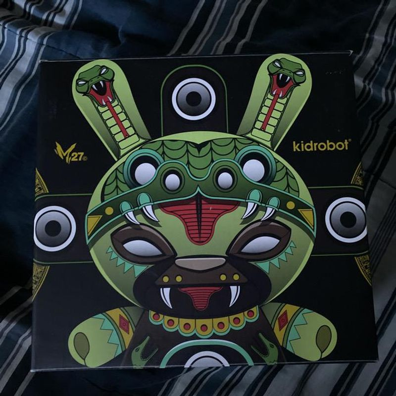 """Shadow Serpent 8"""" Dunny by Marka27 x Kid Robot"""