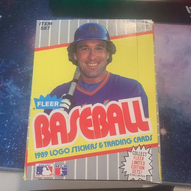 1989 Fleer Baseball Wax Box
