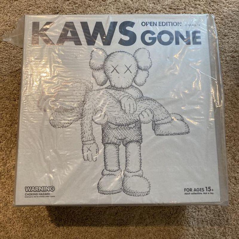KAWS GONE Companion and BFF Vinyl Figure (Grey/Pink)