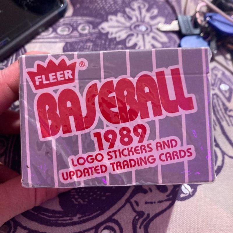 1989 Fleer Baseball Cards Update Set Box