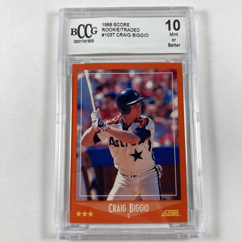 Craig Biggio - 1988 Score Rookies & Traded Baseball