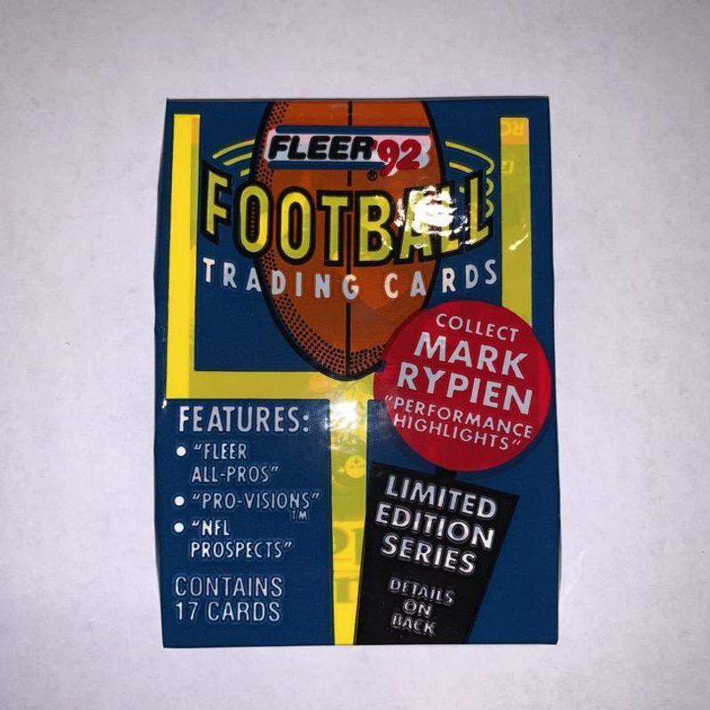 1992 Fleer Football Trading Cards Wax