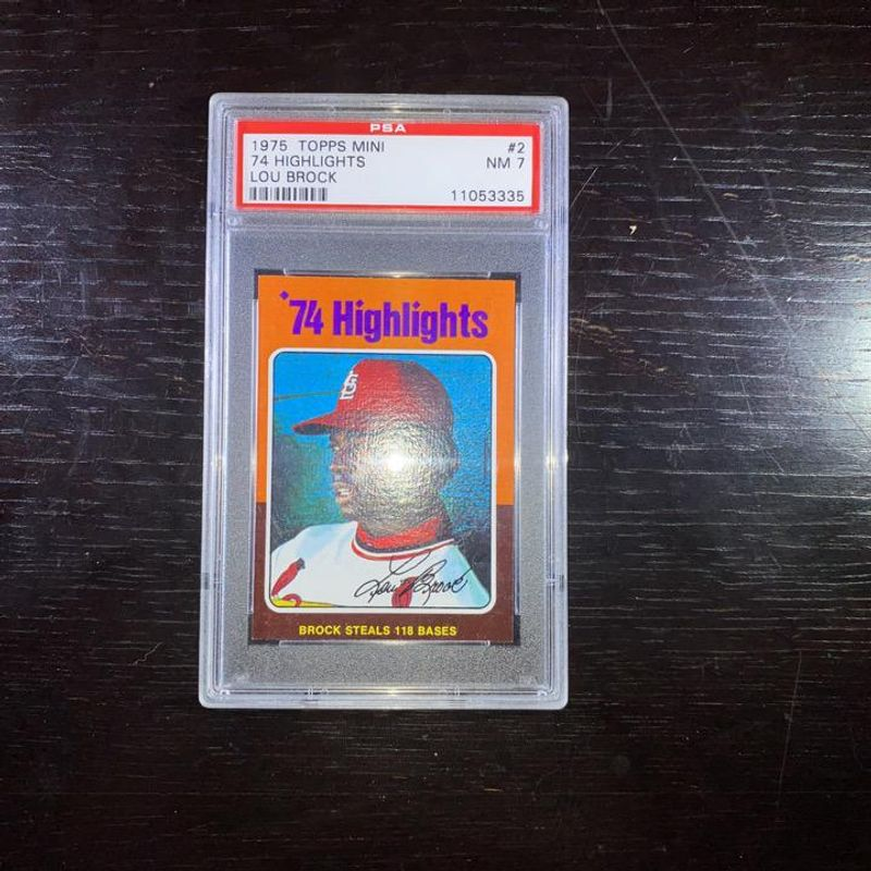 Lou Brock - 1974 Topps Mini 74 Highlights