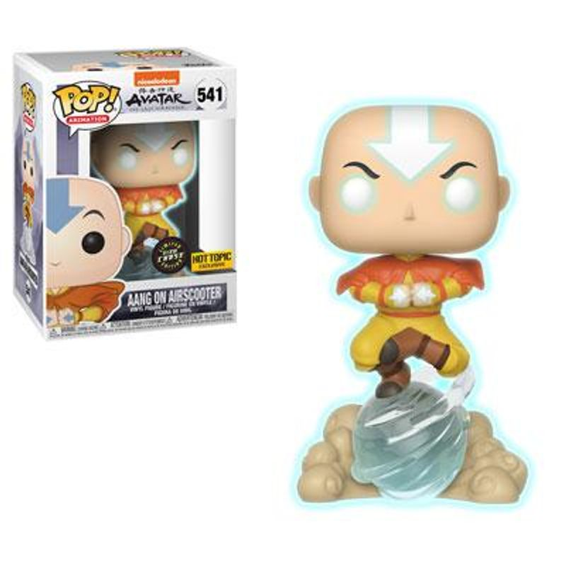 Aang On Airscooter (Avatar State)