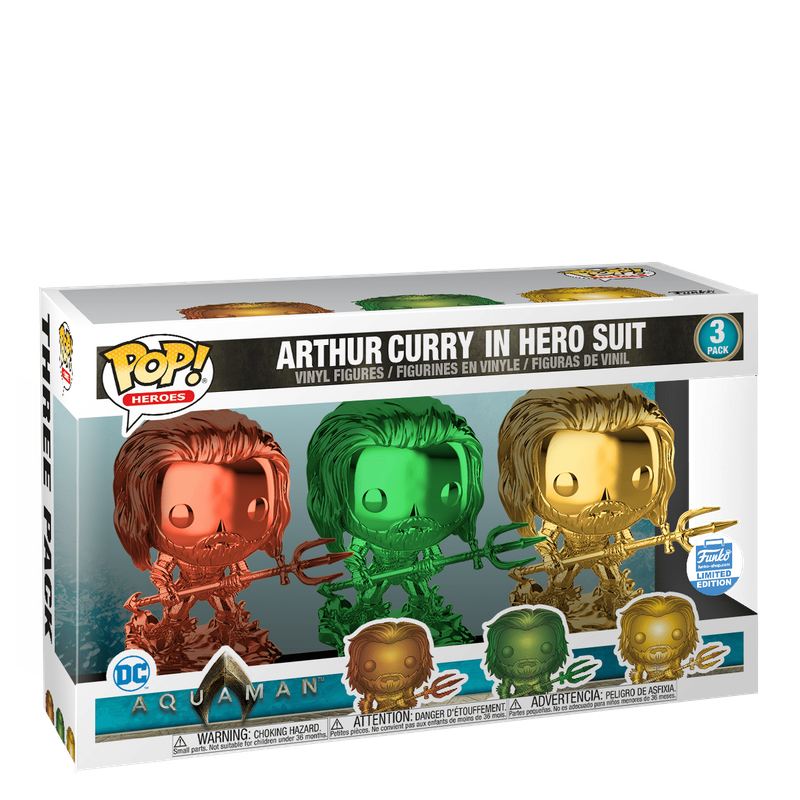 Arthur Curry in Hero Suit (Chrome 3-Pack)