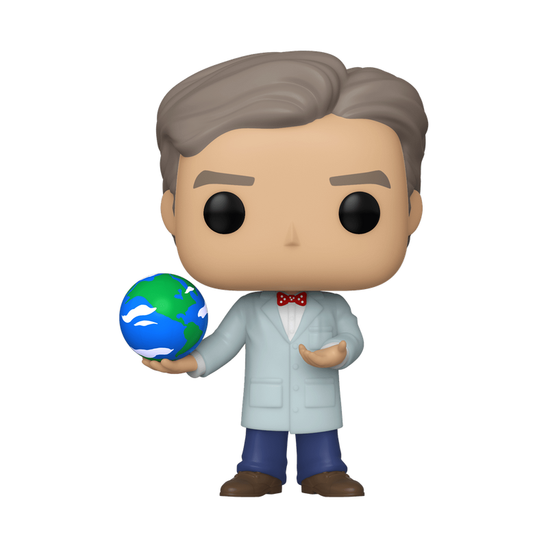 Bill Nye with Globe