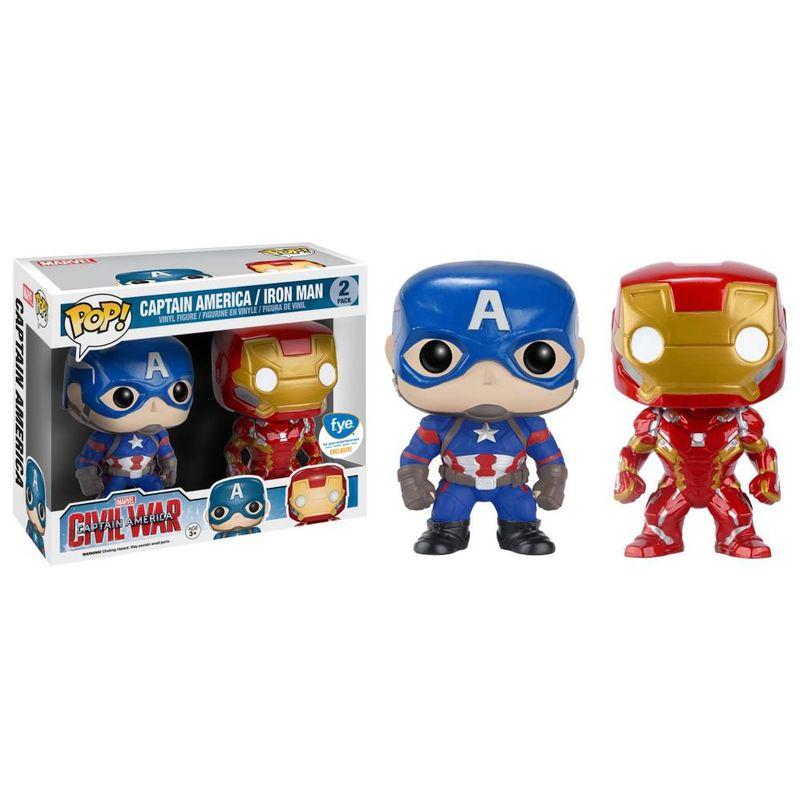 Captain America & Iron Man (Civil War) (2-Pack)