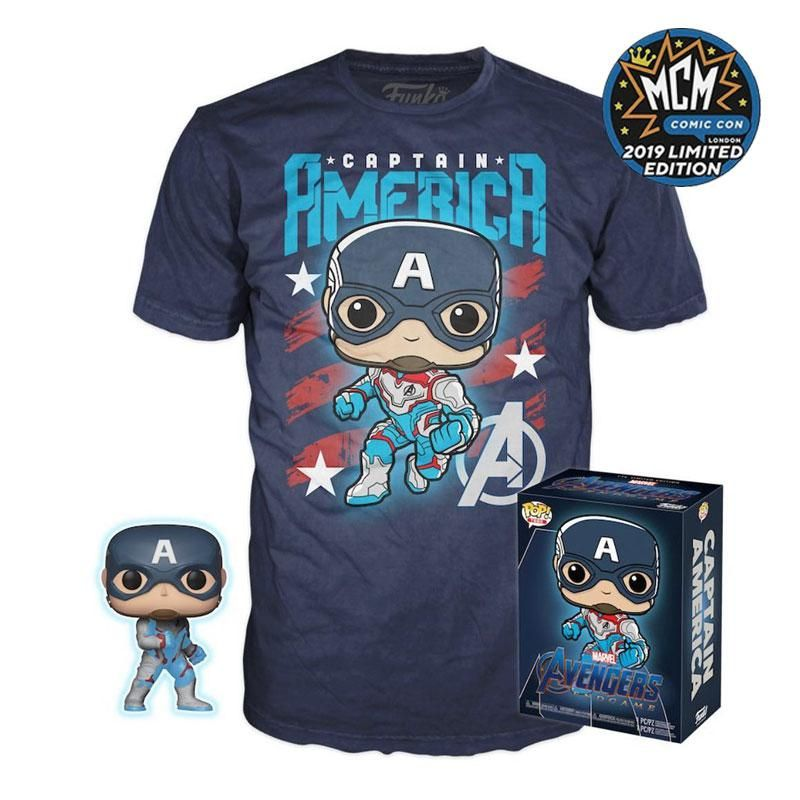 Captain America (Quantum Realm Suit) (Glow in the Dark) and Captain America Shirt