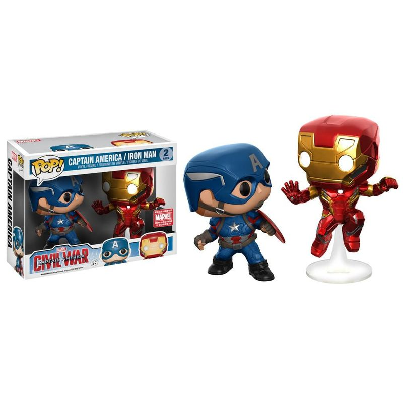 Captain America & Iron Man (Civil War) (Action Pose) (2-Pack)
