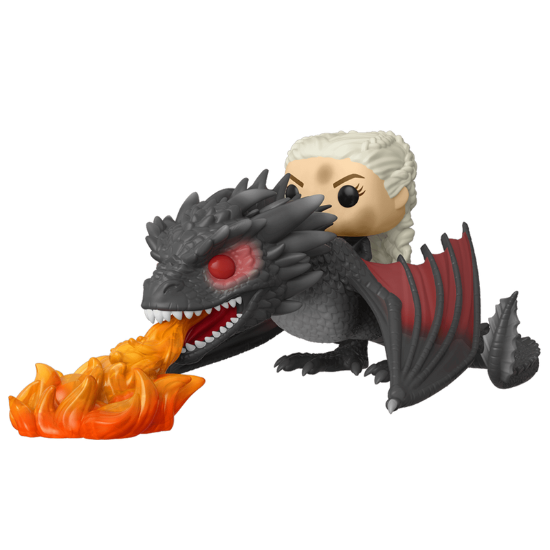 Daenerys with Drogon (Flames)