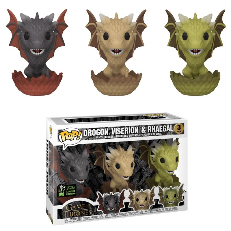 Drogon, Viserion, & Rhaegal- 3 Pack
