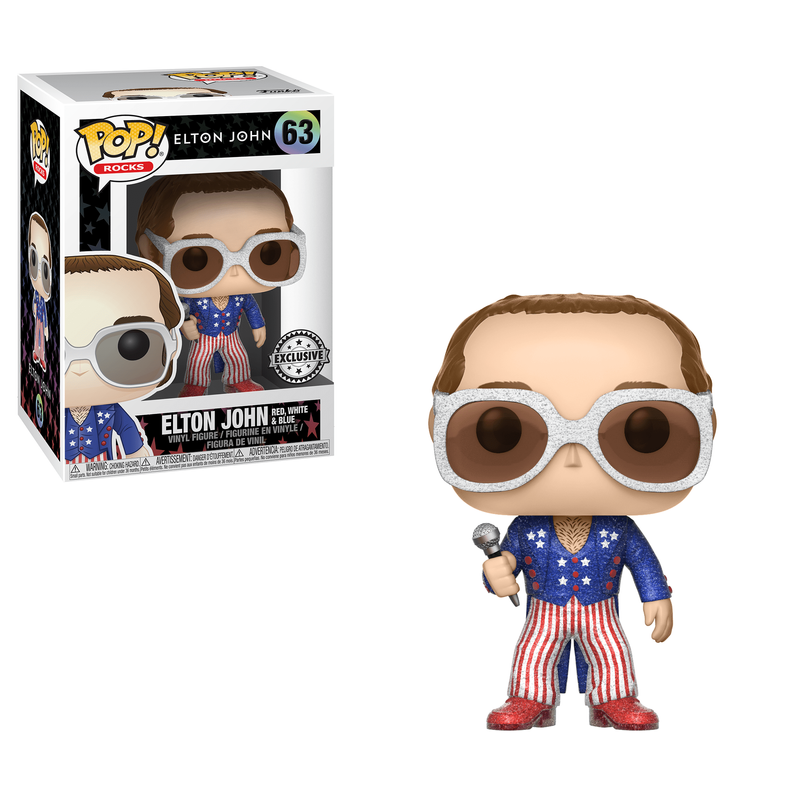 Elton John (Patriotic) (Glitter)