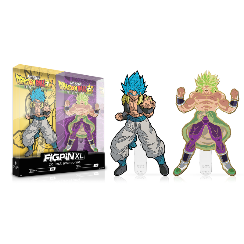 Glitter Hair Gogeta and Gold Plated Broly 2-Pack