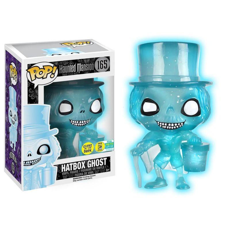 Hatbox Ghost (Haunted Mansion) (Blue Glow Glitter)