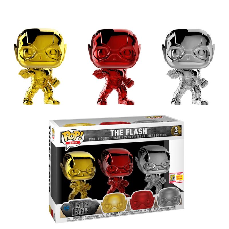 The Flash (Justice League) (Chrome) (3-Pack) [SDCC]