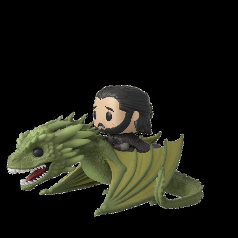 Jon Snow with Rhaegal