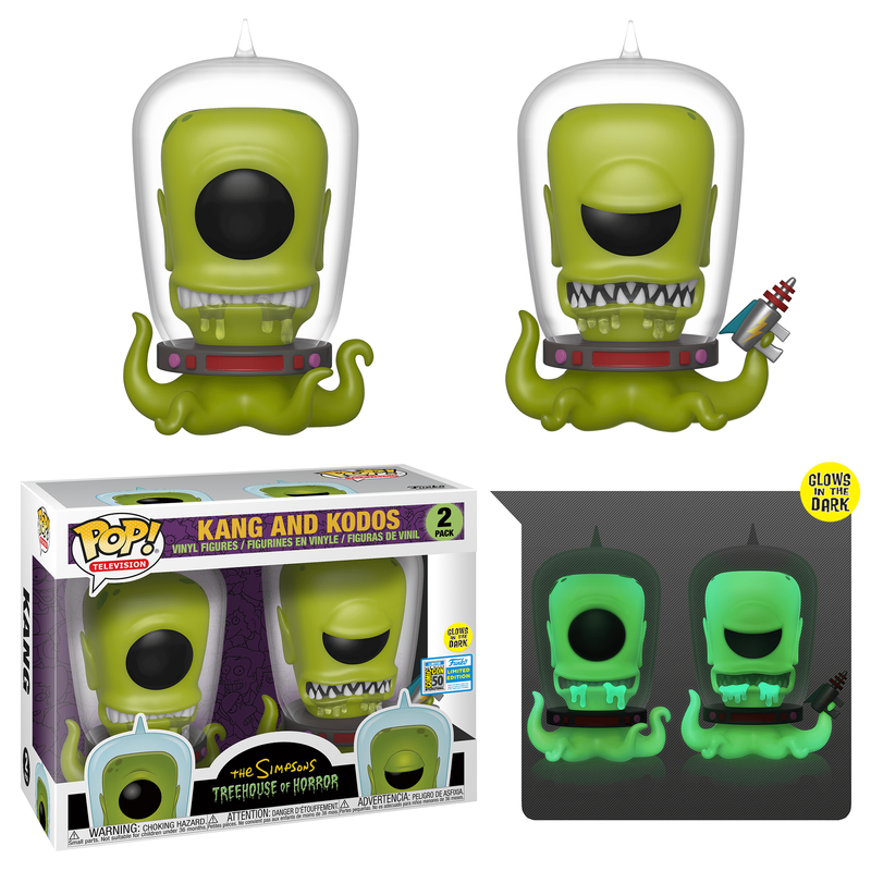 Kang and Kodos (Glow in the Dark) (2-Pack) [SDCC]