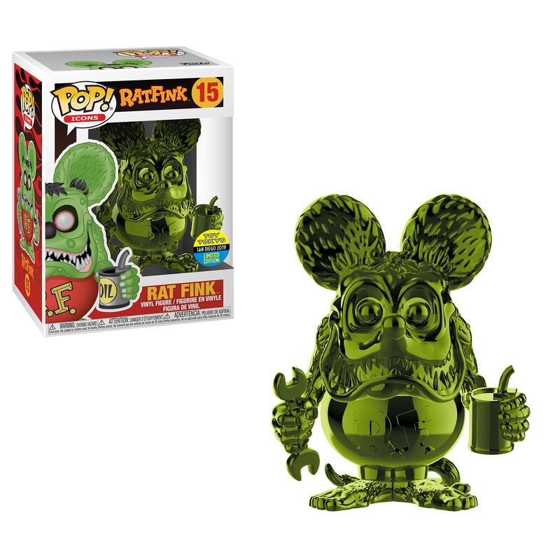 Rat Fink (Green Chrome) [SDCC]