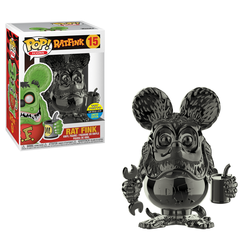Rat Fink (Black Chrome) [SDCC]