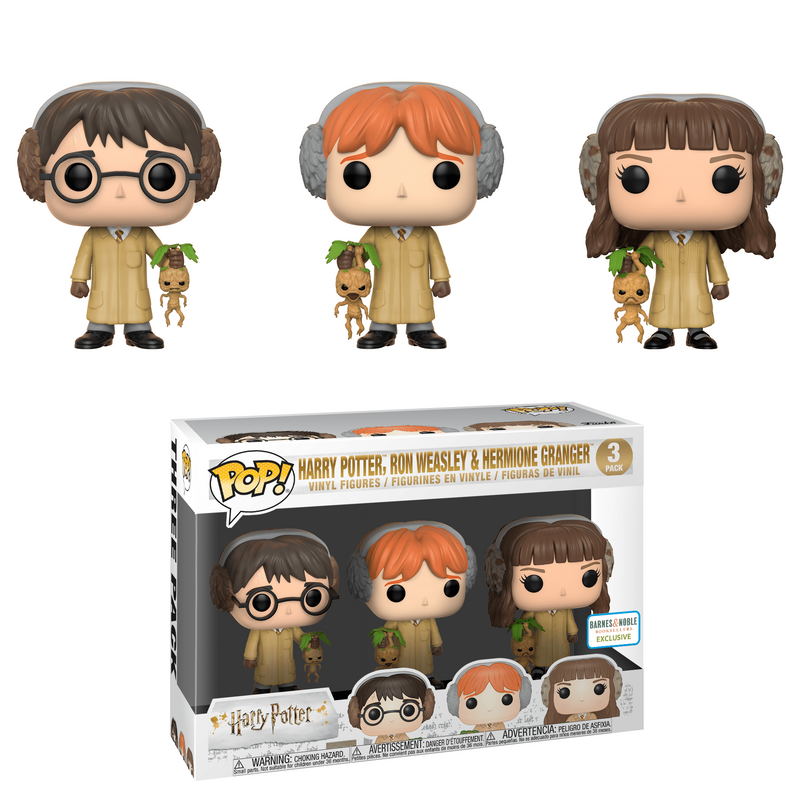 Harry Potter, Ron Weasley, & Hermione Granger (Herbology) (3-Pack)