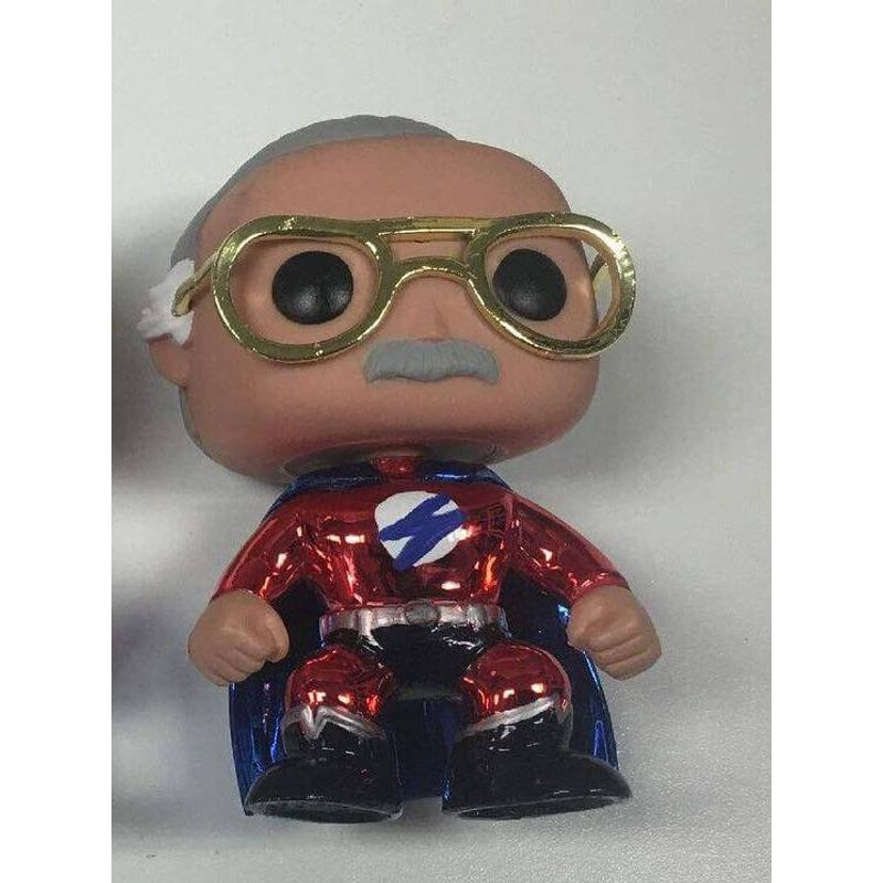 Stan Lee (Superhero) (Red Metallic)