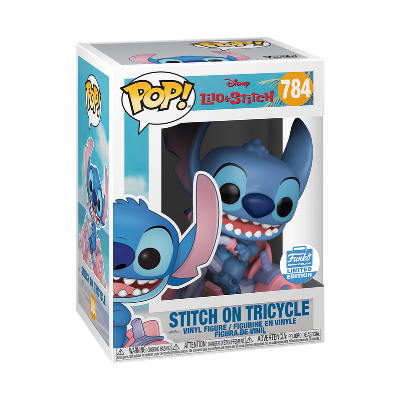 Stitch on Tricycle