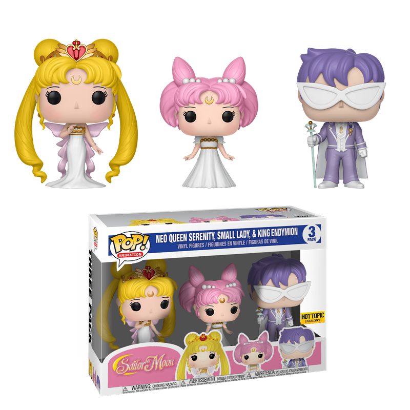 Neo Queen Serenity, Small Lady, & King Endymion (3-Pack)
