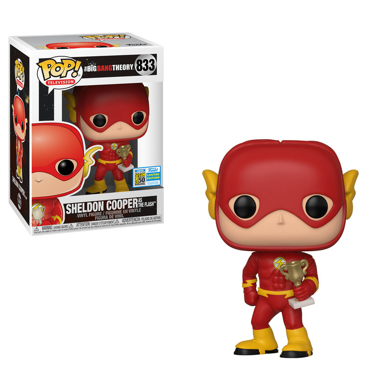 Sheldon Cooper as The Flash [SDCC]