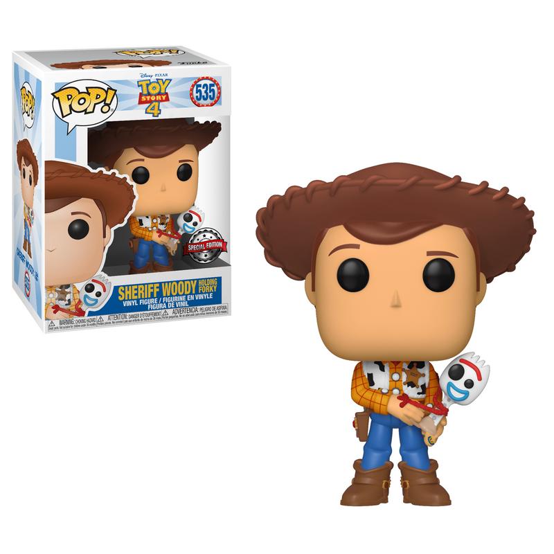 Sheriff Woody Holding Forky