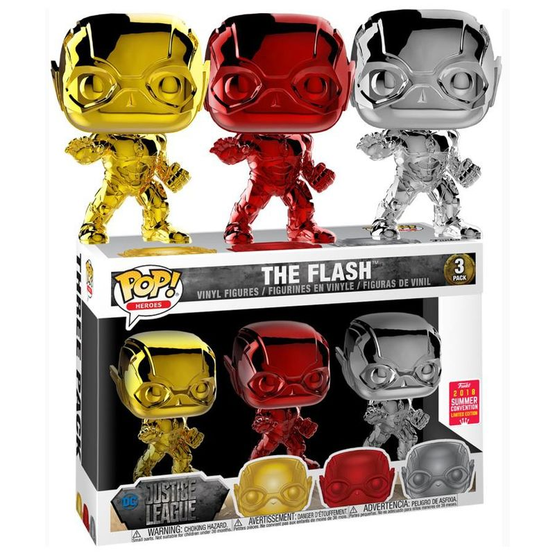 The Flash (Justice League) (Chrome) (3-Pack) [Summer Convention]