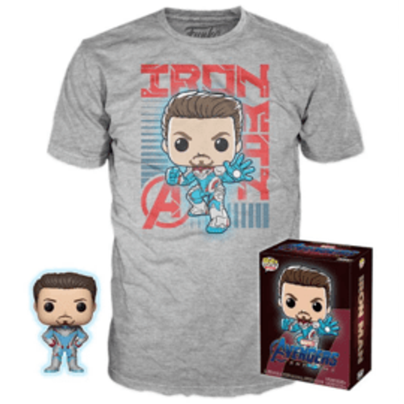 Tony Stark (Quantum Realm Suit) (Glow In The Dark) And Tony Stark Shirt